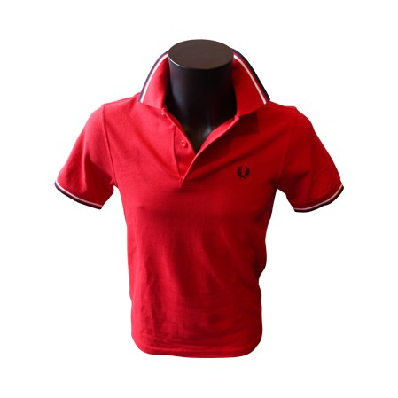 Polo Fred Perry Twin Tipped Rouge/Marine/Blanc