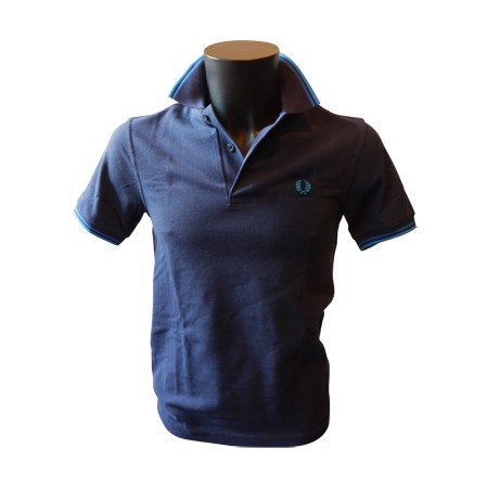 Polo Fred Perry Twin Tipped Marine/Roy/Turquoise