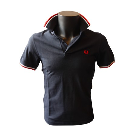 Polo Fred Perry Twin Tipped Marine/Blanc/Rouge