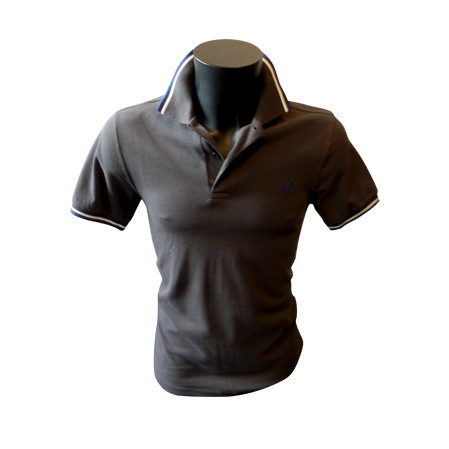 Polo Fred Perry Twin Tipped Marron/Beige/Marine