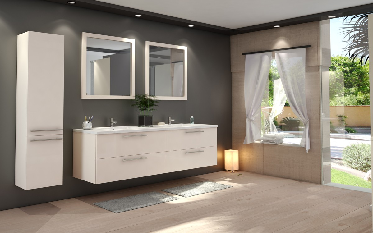 salle de bain tendance. Black Bedroom Furniture Sets. Home Design Ideas