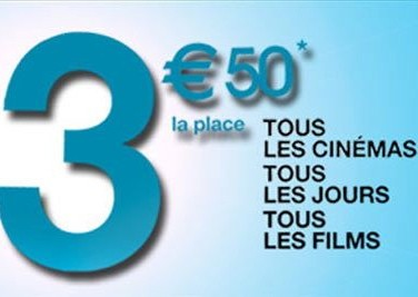 Semaine UGC  3,50 &euro; la place!