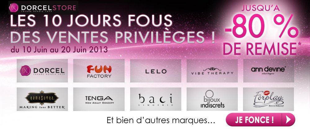 DORCELSTORE : Ventes privileges