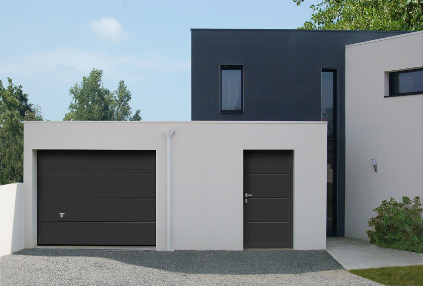 porte de garage sectionnelle basculante ou roulante menuiserie ava 44. Black Bedroom Furniture Sets. Home Design Ideas